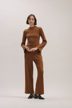 Brown Olivia knitted pants