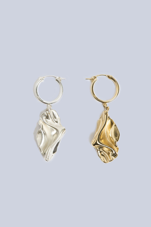 Fan earrings- Gold