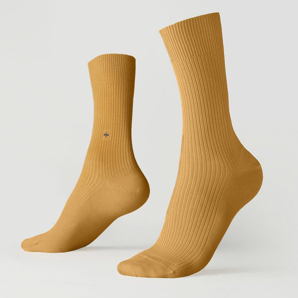 Crew ribbed socks - Golden