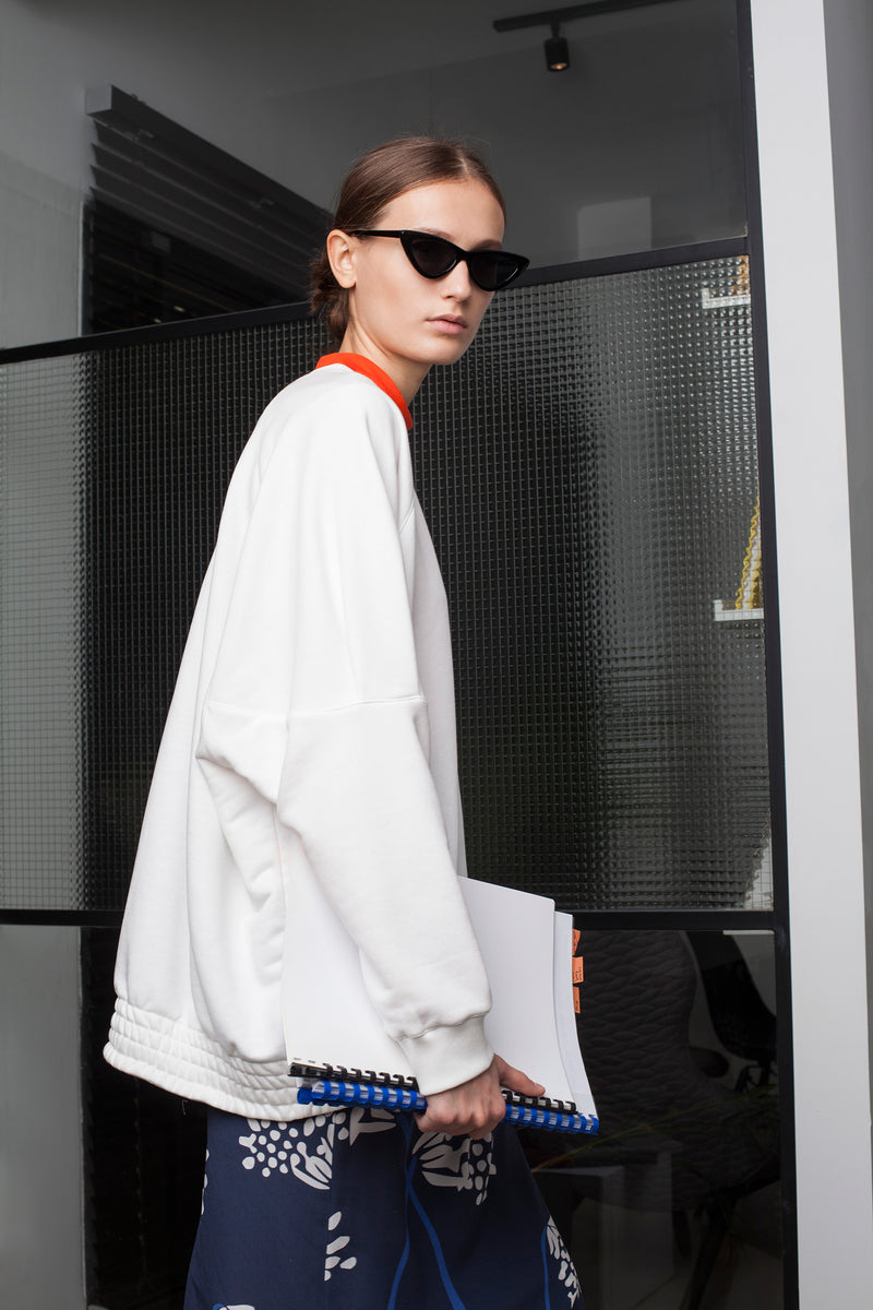 White Shira oversize Sweatshirt