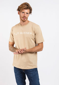 Beige Late Bloomer T for Men