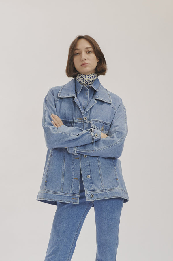 Indigo Blue Denim Jacket X Story