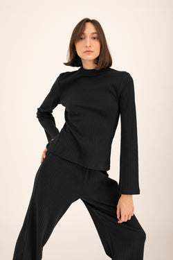 Black Olivia knitted top