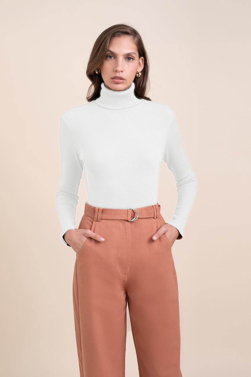 White Elliott Turtle Neck