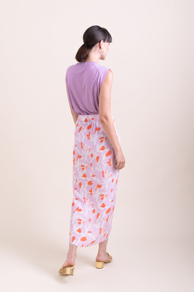 Purple Floral Jasmine Skirt