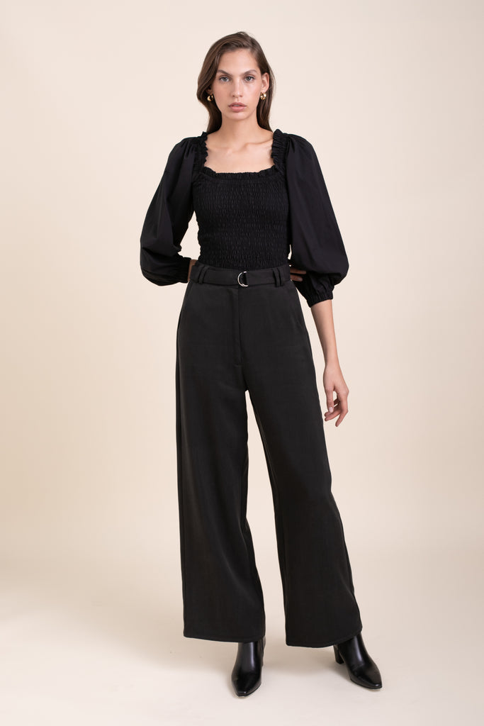 Black Leon Wide Pants