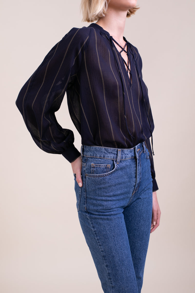 Striped Paros Blouse