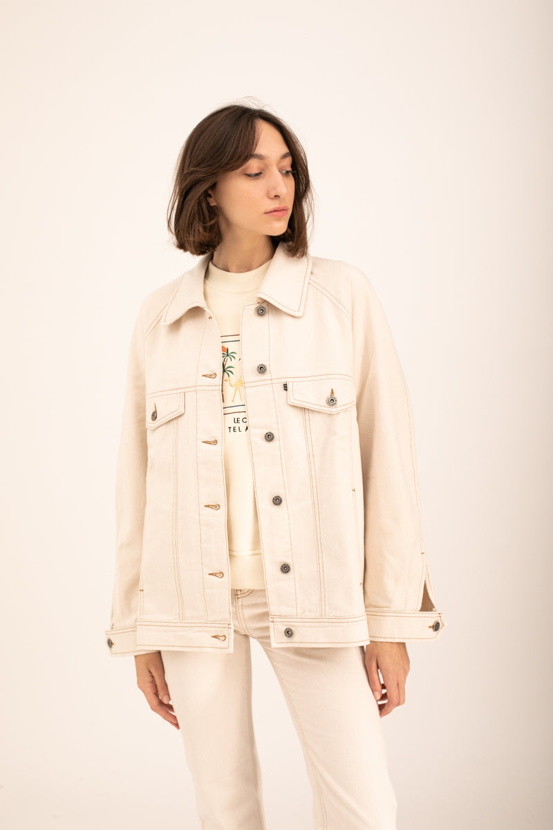 Beige Denim Jacket X Story