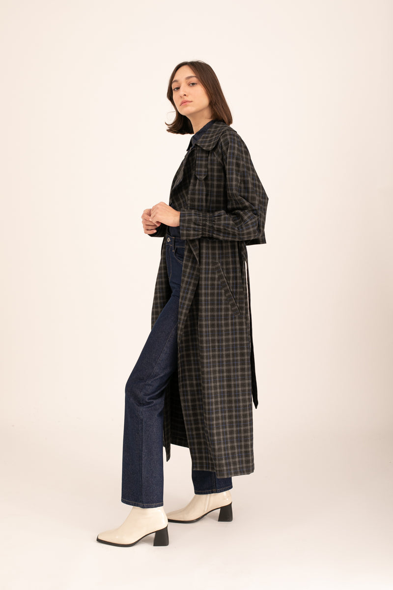 Plaids Emily Trench Coat