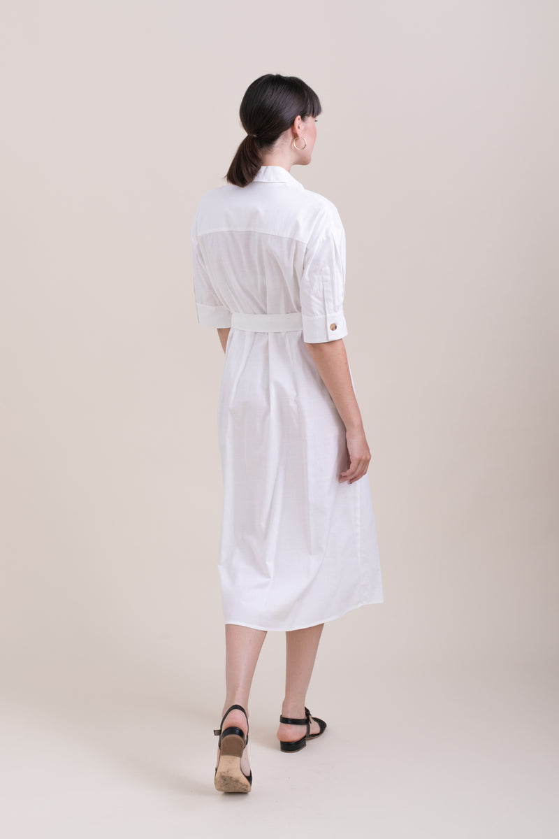 White Safari Dress