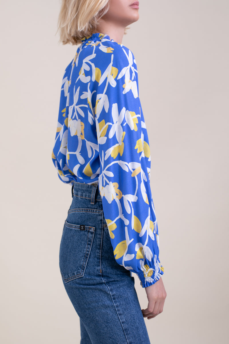 Blue printed Lillya Blouse