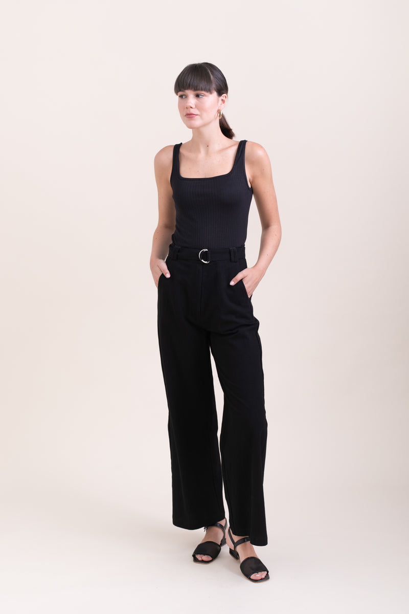 Black Leon Wide Leg Pants