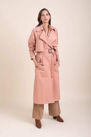 Pink Emily Trench Coat