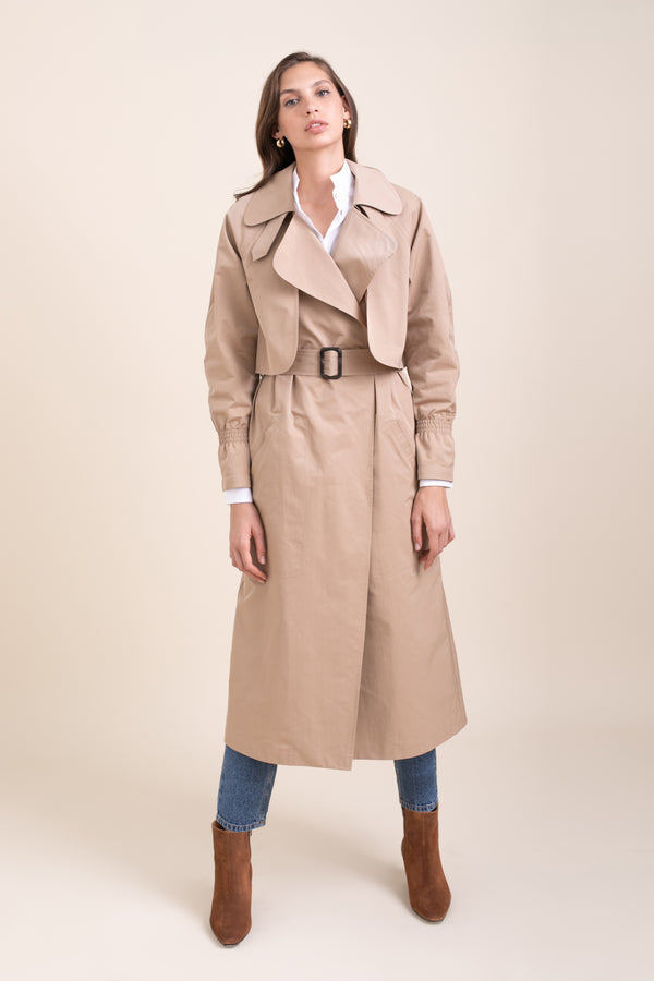 Camel Emily Trench Coat