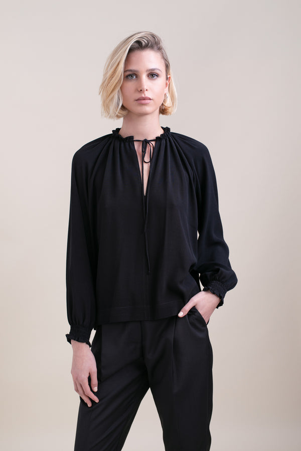 Black Lillya Blouse
