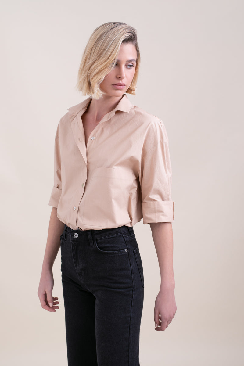 Nude Polly Button Up