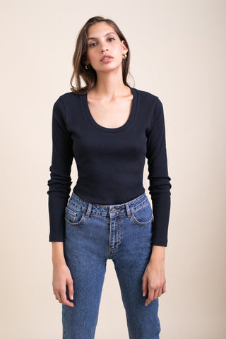 Dark Navy Ballerina Top