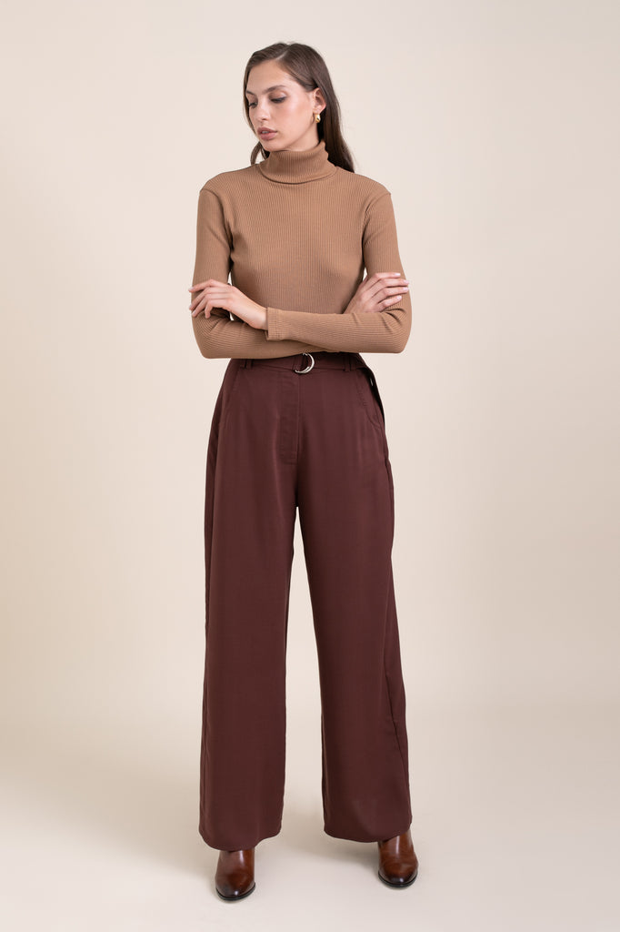 Bordeaux Leon Wide Pants
