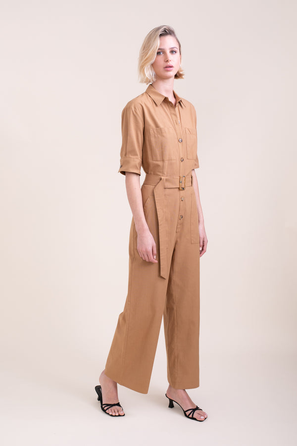 Camel Polly Jumpsuit