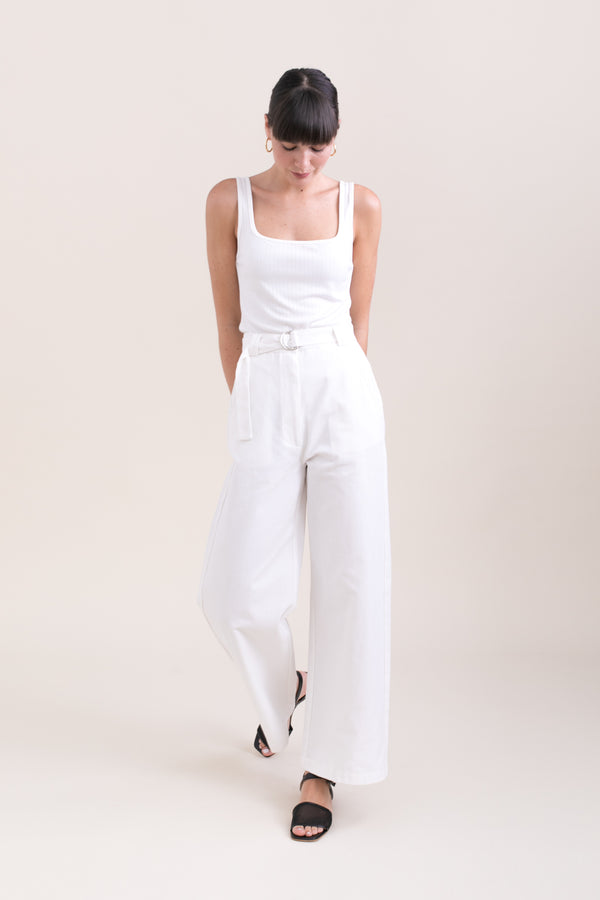 White  Leon Wide Pants