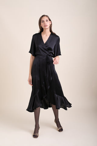 Black Silk Eva Dress