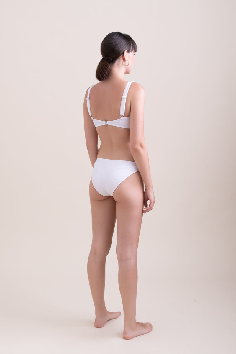 White Mid Rise Briefs