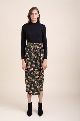 Printed Marseille Wrap Skirt