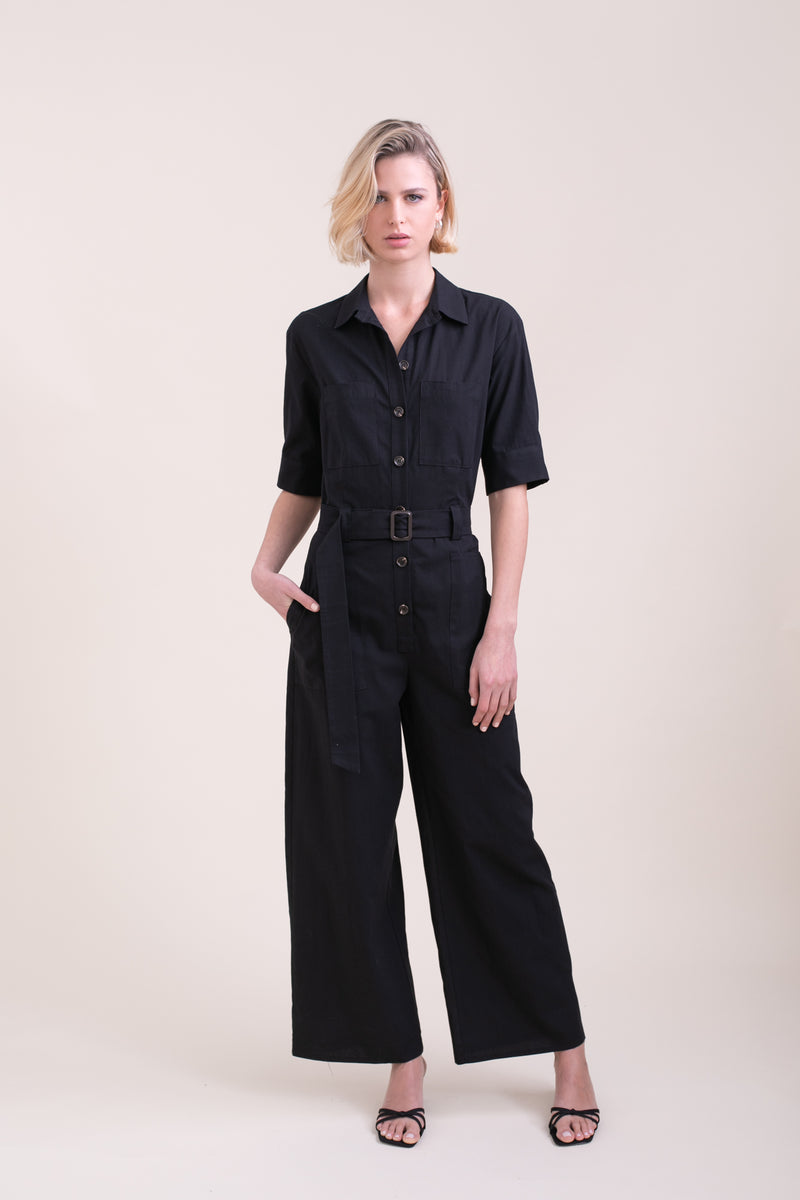 Black Polly Jumpsuit