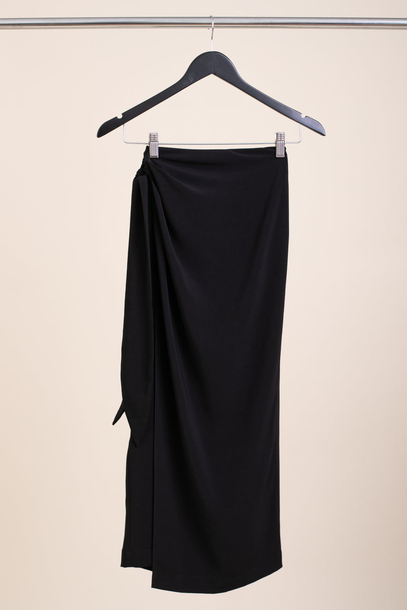 Black Marseille Midi Skirt