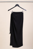 Black Marseille Wrap Skirt