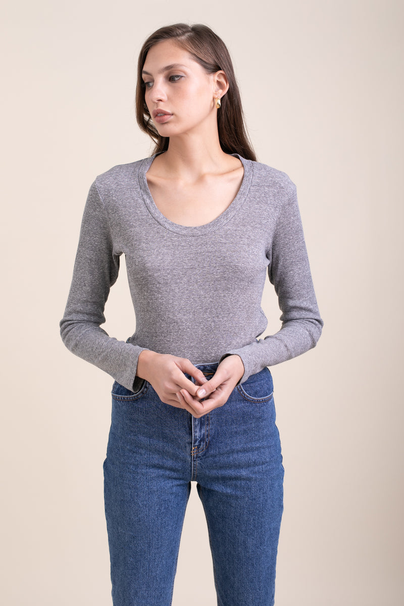 Grey Ballerina Top
