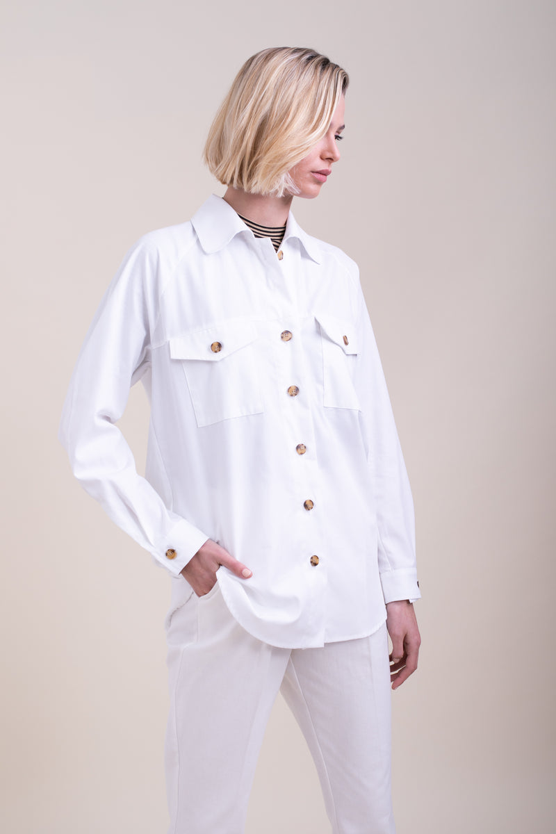White Jamie Overshirt