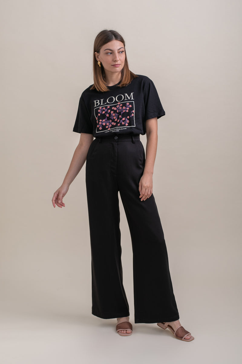 Black Leon Wide Leg Pants FW 20