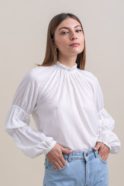 White Nicki Blouse