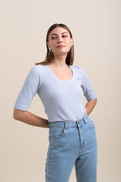 Light Blue Alexa Top