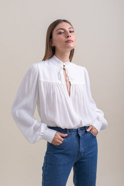 White Lauren Top
