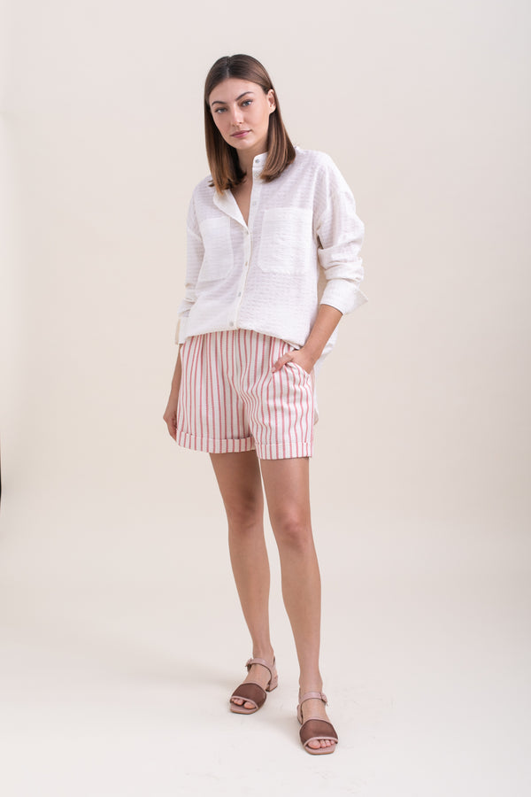 Red Striped Billy Shorts