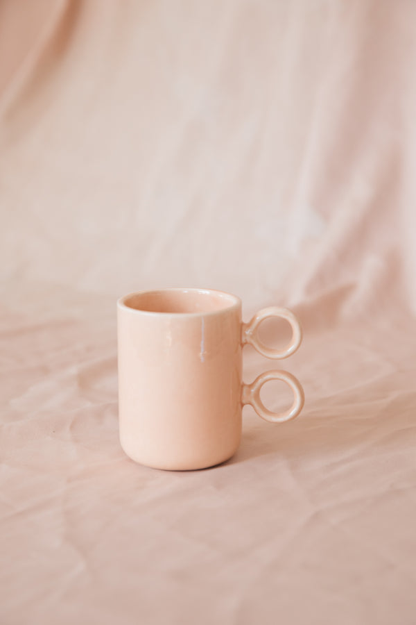 Scissors Mug Peach Glaze