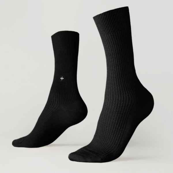 Crew ribbed socks - Black Star