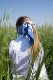 Blue Paix Cotton Scarf