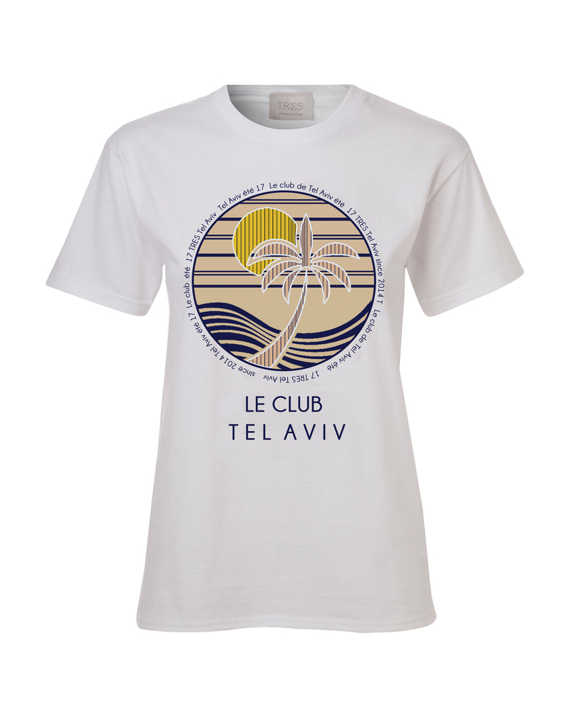 White Le club T shirt