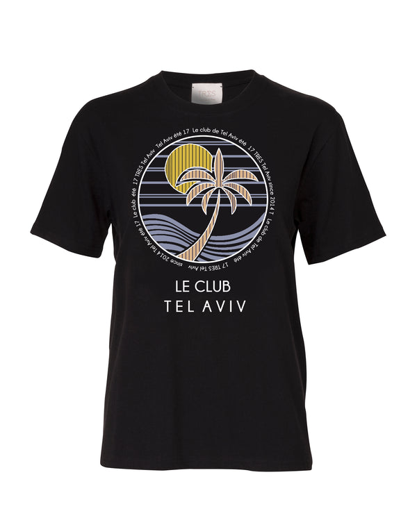 Black Le club T shirt for Men