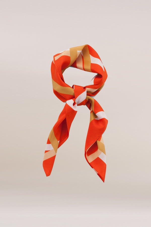 Orange Logo Scarf