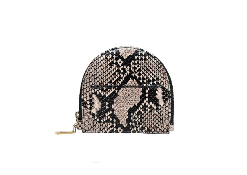 Polly Card and Coin Purse - Ivory Cream Python