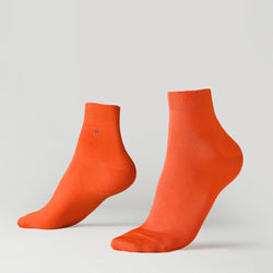 Ankle ribbed socks - Orange