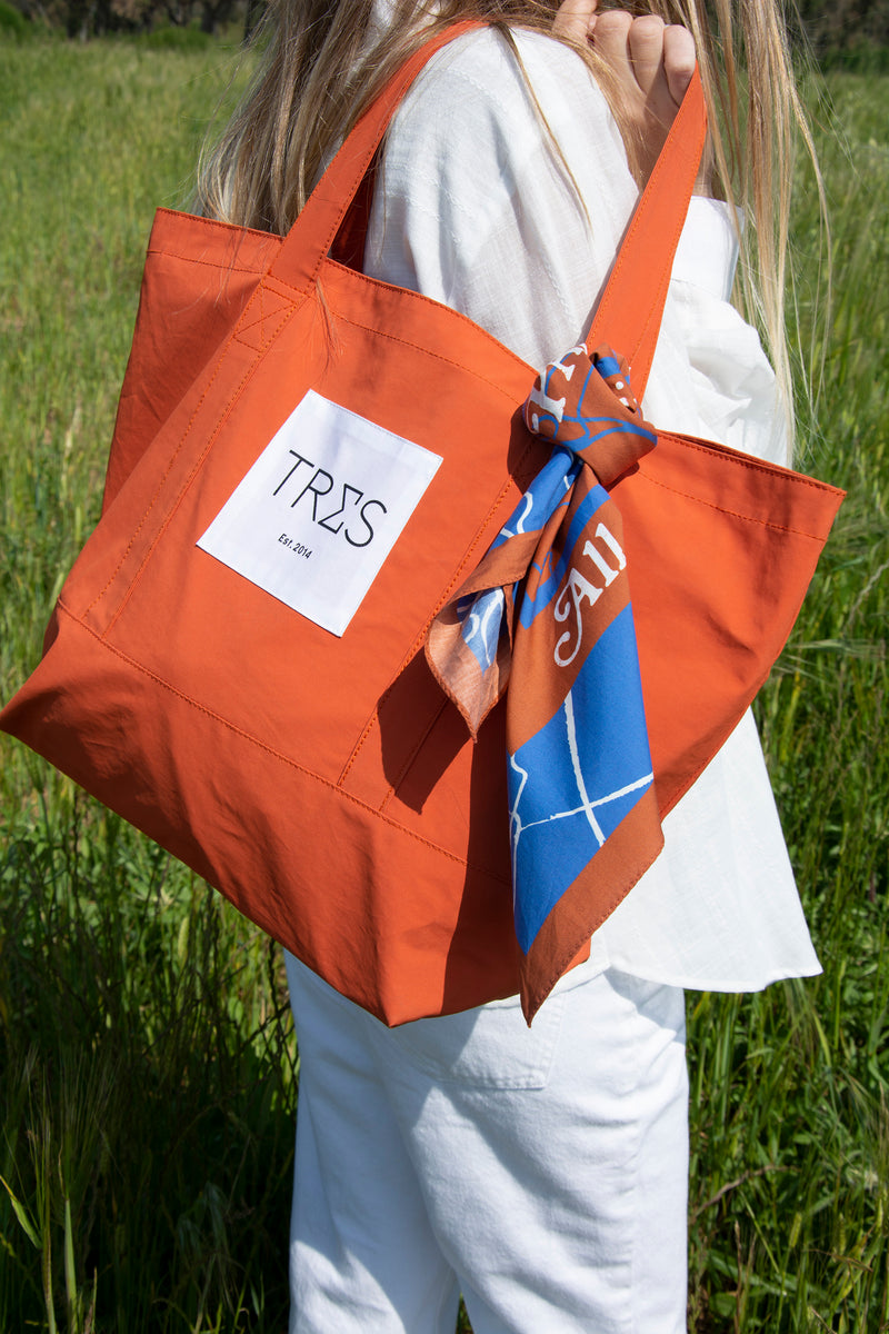 Orange Weekend Bag
