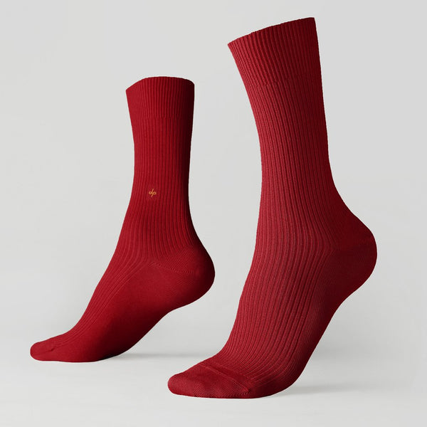 Crew ribbed socks - Roses