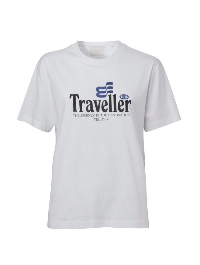 White Traveller T for Men