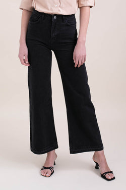Black Wide Leg Denim