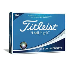 titleist tour soft ballen geel
